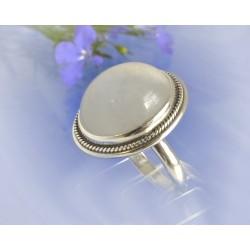 Mondsteinring 18 mm Silber-925 UNIKAT (MT52)