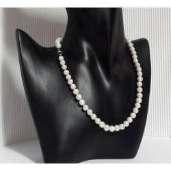 Silberschmuck - Perlencollier 42 cm Silber-925 (PER19)