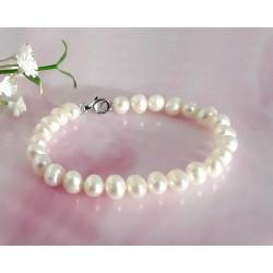 Perlen - Perlen Armband geknotet 19 cm (PER20)