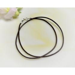 Silberschmuck - Lederband, braun  38  cm / 1,5 mm  (KC154)*