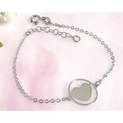 Silberschmuck - Herz Armband Silber-925  (SG91)*