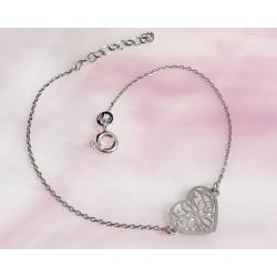 Silberschmuck - Herz Armband Silber-925  (SG102)*