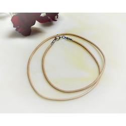 Silberschmuck - Lederband, hellbraun  38  cm / 1,5 mm  (KC163)*