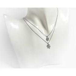 Silberschmuck - Damen Collier Kleeblatt Silber-925 (SD105)*