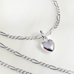 Silberschmuck - Damen Herz Collier Silber-925 (SD123-42)*