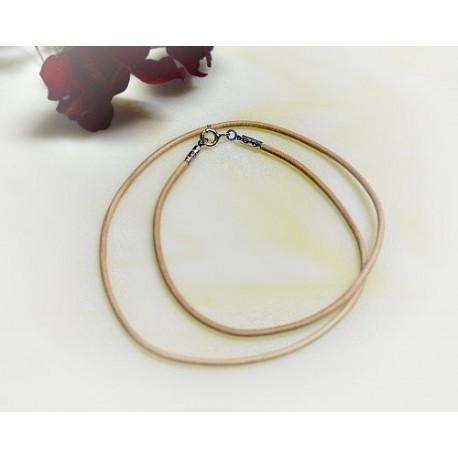 Silberschmuck - Lederband, hellbraun 42 cm / 1,5 mm (KC165)*