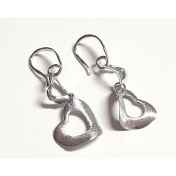 Silberschmuck - Ohrhänger Herz Silber-925  (SM78)*