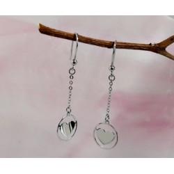 Silberschmuck - Ohrhänger Herz Silber-925  (SM77)
