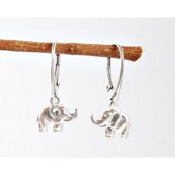 Silberschmuck - Elefanten Ohrhänger  Silber-925  (AK61)