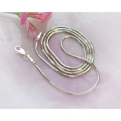 Silberschmuck - Schlangenkette 60 cm Silber-925  (KF21)*