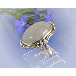 Mondsteinschmuck - Mondsteinring 17mm Silber-925 UNIKAT (MT50)*