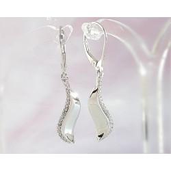 Silberschmuck - Ohrhänger mit Zirkonia Silber-925 (SM88)*