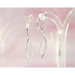 Silberschmuck - Ohrhänger mit Zirkonia Silber-925 (SM92)*