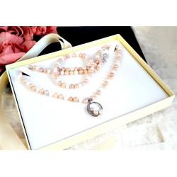 Silberschmuck - Perlen Collier & Armband  (PER22)