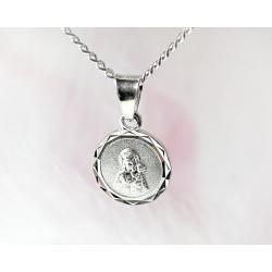 Devotionalien - Medaille Maria mit Jesus  Silber-925  (SH57)*