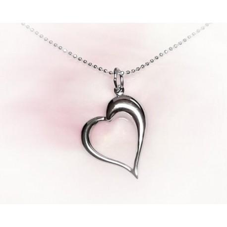 Silberschmuck - Anhänger Herz Silber-925  (SU80)*