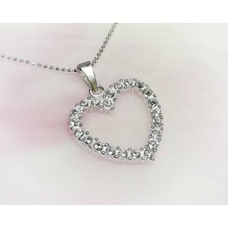 Silberschmuck - Anhänger Herz Silber-925  (SP166)*
