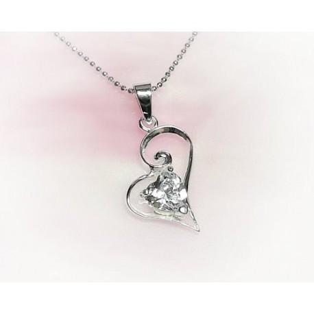 Silberschmuck - Anhänger Herz Silber-925  (SP182)*