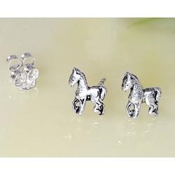 Silberschmuck - Ohrstecker  Pferde  Silber-925  SX61