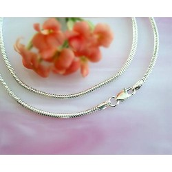 Silberschmuck - Schlangenkette 50 cm Silber-925  (KF17)*