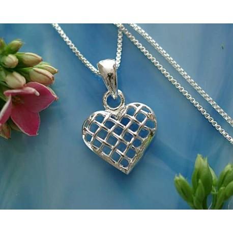 Silberschmuck - Anhänger Herz Silber-925 (MO)