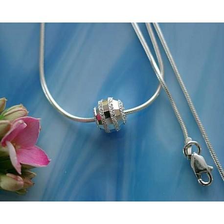 Silberschmuck - Damencollier  Silber-925  (TI)*