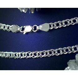 Armband Doppelpanzerkette Silber 925 (SG151)