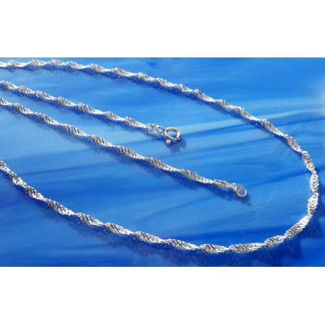 Singapourkette 42 cm - 60 cm  Silber-925  (KB31)