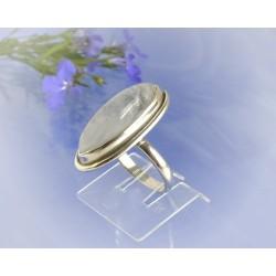 Mondsteinring 17 mm Silber-925 UNIKAT (MT60)