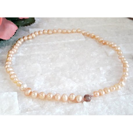 Silberschmuck - Perlen Collier 45 cm  (PER25)