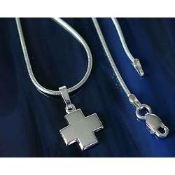 Silberschmuck Kreuzanhänger Silber 925 mit Kette 42 cm UH01