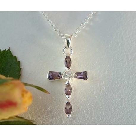 Silberschmuck Kreuz Anhänger Silber 925  6I01