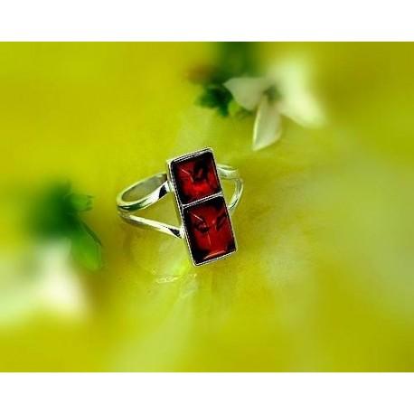 Bernsteinschmuck - Bernstein-Ring  Silber-925  (E5)*