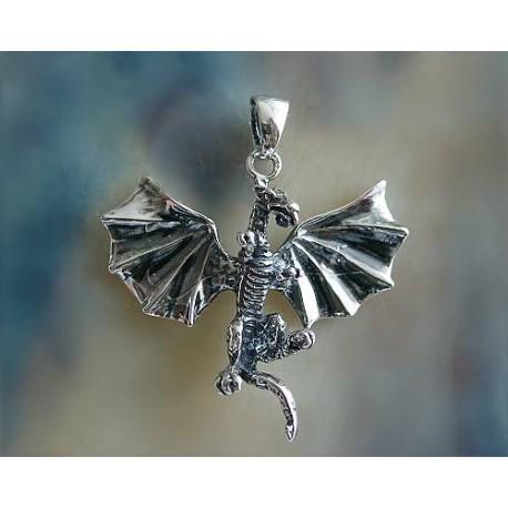 Drachen / Mystik - Anhänger Drache  Silber-925  (SH05)*