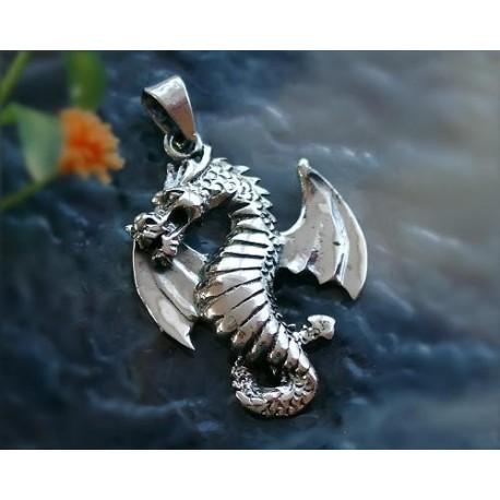 Drachen / Mystik - Anhänger Drache Silber-925  (SH14)*