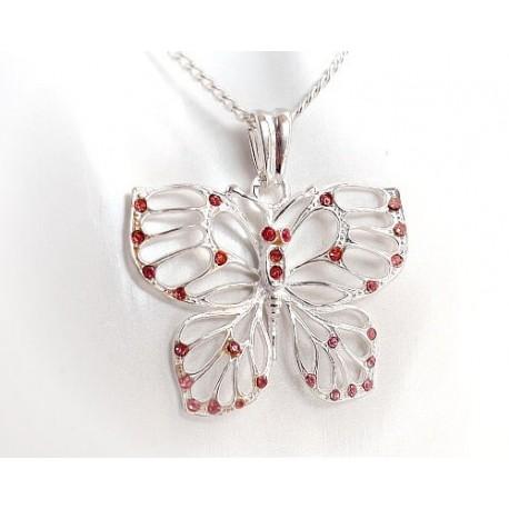 Silberschmuck - Anhänger Schmetterling  Silber-925  (SH04)