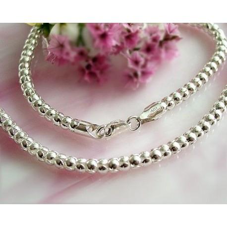 Kette Silber 925 Halskette Collier 42 cm - 45 cm Sterlingsilber (KF27)