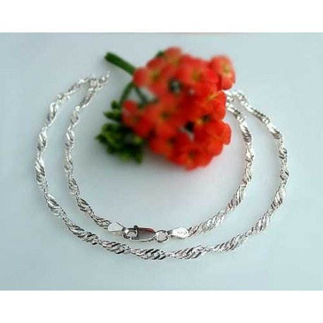 Silberschmuck - Singapourkette  Silber-925  (KF02-42)