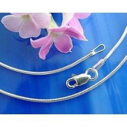 Schlangenkette 40 cm - 100 cm Silber 925  (KA37)