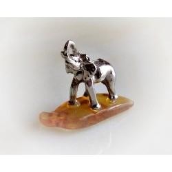 Geschenkartikel - Elefant mit Bernstein (BM45)*