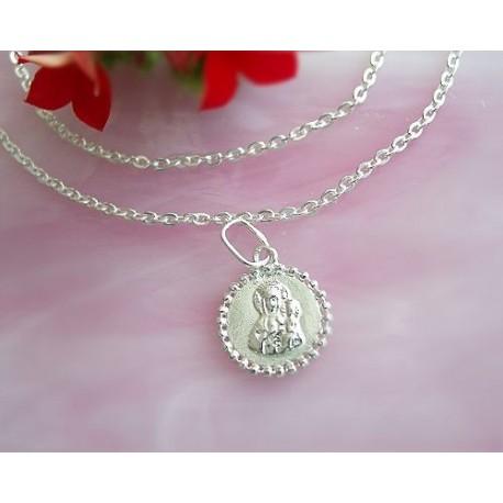 Devotionalien - Medaille Maria mit Jesus Silber-925  (SH52)*