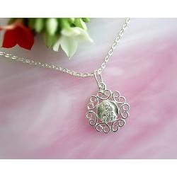 Devotionalien - Medaille Maria mit Jesus  Silber-925  (SH53)*