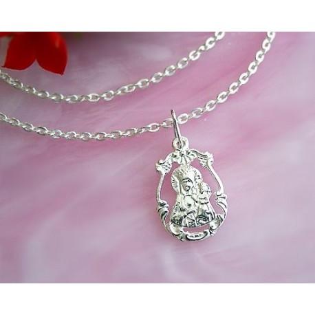 Devotionalien - Medaille Maria mit Jesus Silber-925  (SH55)