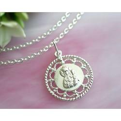 Devotionalien - Medaille Maria mit Jesus Silber-925  (SH56)*