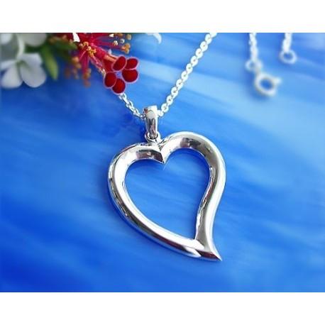 Silberschmuck - Anhänger Herz  Silber-925  (SH35)