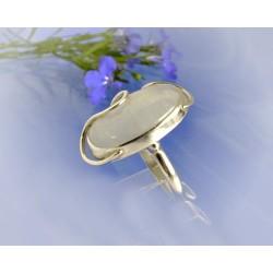Mondsteinring 21 mm Silber-925 UNIKAT (MT53)