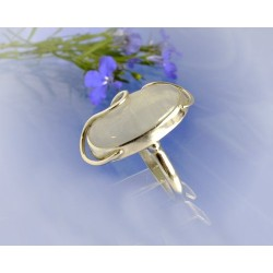 Mondsteinschmuck - Mondsteinring 21mm Silber-925 UNIKAT (MT53)*
