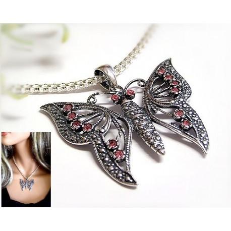 Silberschmuck - Anhänger Schmetterling  Silber-925  (SH03)