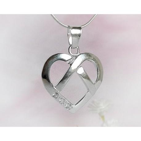 Silberschmuck - Anhänger-Herz  Silber-925  (SP25)