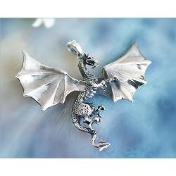 Drachen / Mystik - Anhänger Drache Silber-925  (SH08)*